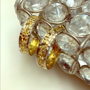 10K Gold Sterling Vintage Hoop Earrings